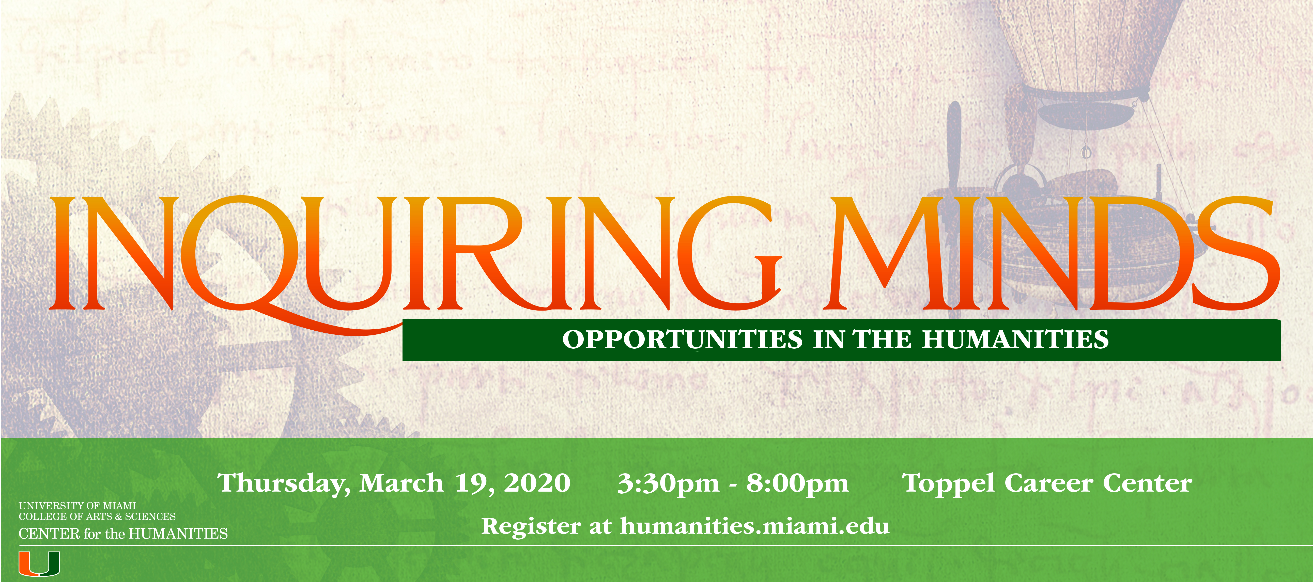 Inquiring Minds Center For The Humanities University Of Miami