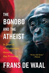 """The Bonobo & the Atheist"" - Frans De Waal book cover"